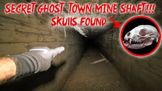 SECRET ABANDONED APOCALYPSE GHOST TOWN MINE SHAFT // *SKULL FOUND* | MOE SARGI