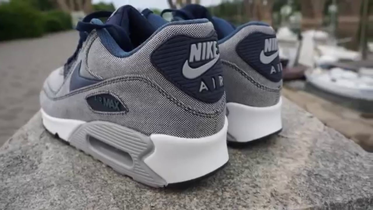 nike air max 90 blue graphite premium leather watch