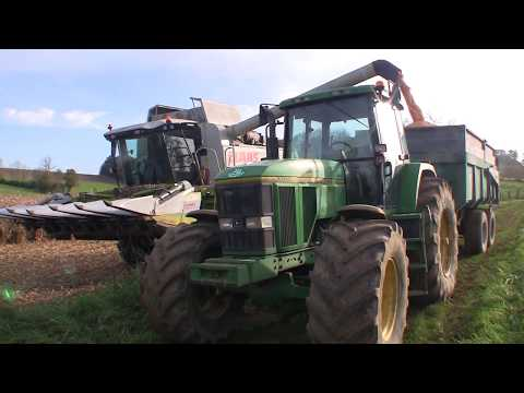 Moissonneuse  CLAAS Lexion 550 - Récolte mais - saison 2014 - Franche Comté -