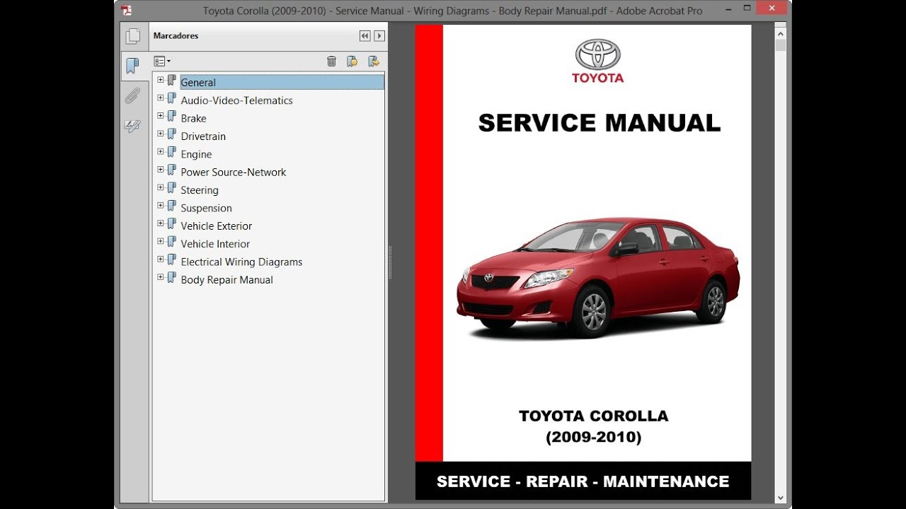 Toyota Corolla 2009 2010 Service Manual Wiring Diagrams Body Repair Manual Youtube