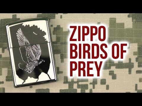 Распаковка Zippo 21069 Birds Of Prey
