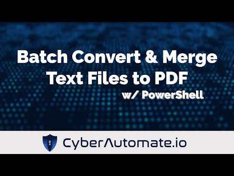 powershell script convert to pdf