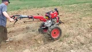 Motocultor BSR 1100 BE 12cp, diesel la scos cartofi