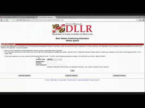 How to Find Your Continuing Education Credits on the DLLR Website