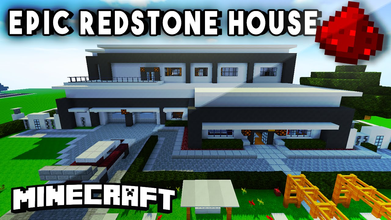 Modern redstone mansion fully functional minecraft redstone house youtube
