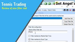 Betfair trading software - Bet Angel - Review of new filter tool