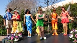 Disney Fairies Epcot Debut at Pixie Hollow - Tinker Bell, Iridessa, Silvermist, Fawn & Rosetta 2009