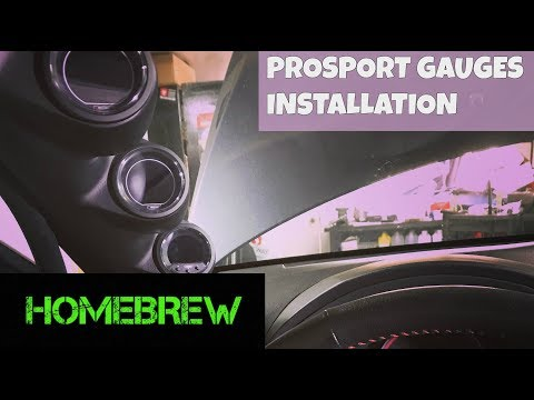 2013 STi Build Part 17 - Prosport Gauges Install How To