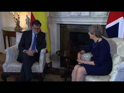 Britain's May meets with Spanish Prime Minister Mariano Rajoy