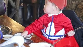 팔공산장작구이바베큐 오리고기 아기 먹방