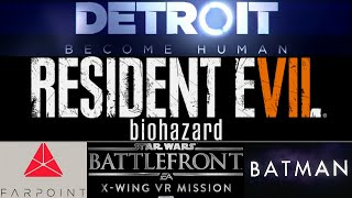 E3 обзор / Detroit Become Human / Resident Evil VII/ VR Games | Sony E3 2016 | Part 3