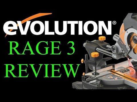 tool review evolution rage3 sliding miter saw doovi. Black Bedroom Furniture Sets. Home Design Ideas