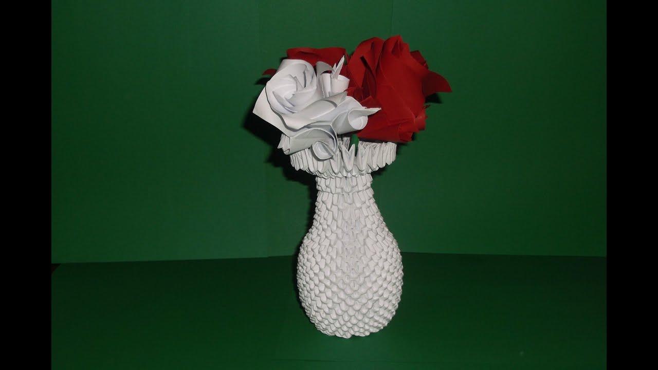 3d origami vase tutorial diy paper craft vase youtube mightylinksfo