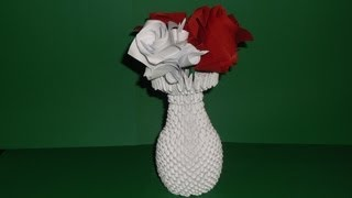 How To Make 3d Origami Vase