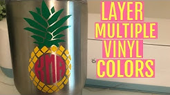 LAYERING MULTICOLORED VINYL DECALS WITH CRICUT EXPLORE | REGISTRATION MARKS