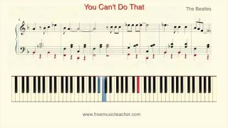 "How To Play Piano: The Beatles ""You Can"