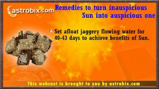 Lal kitab remedies for unlucky Sun - (Vedic Astrology)