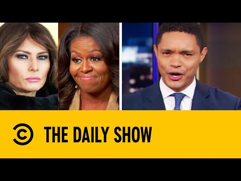 Michelle Obama Throws Shade At Melania Trump | The Daily Show With Trevor Noah