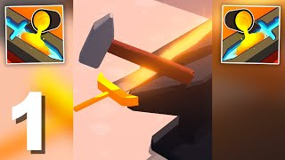 Blade Forge 3D (by Kwalee Ltd) Gameplay Walkthrough 1-8 Levels (Android) screenshot 1