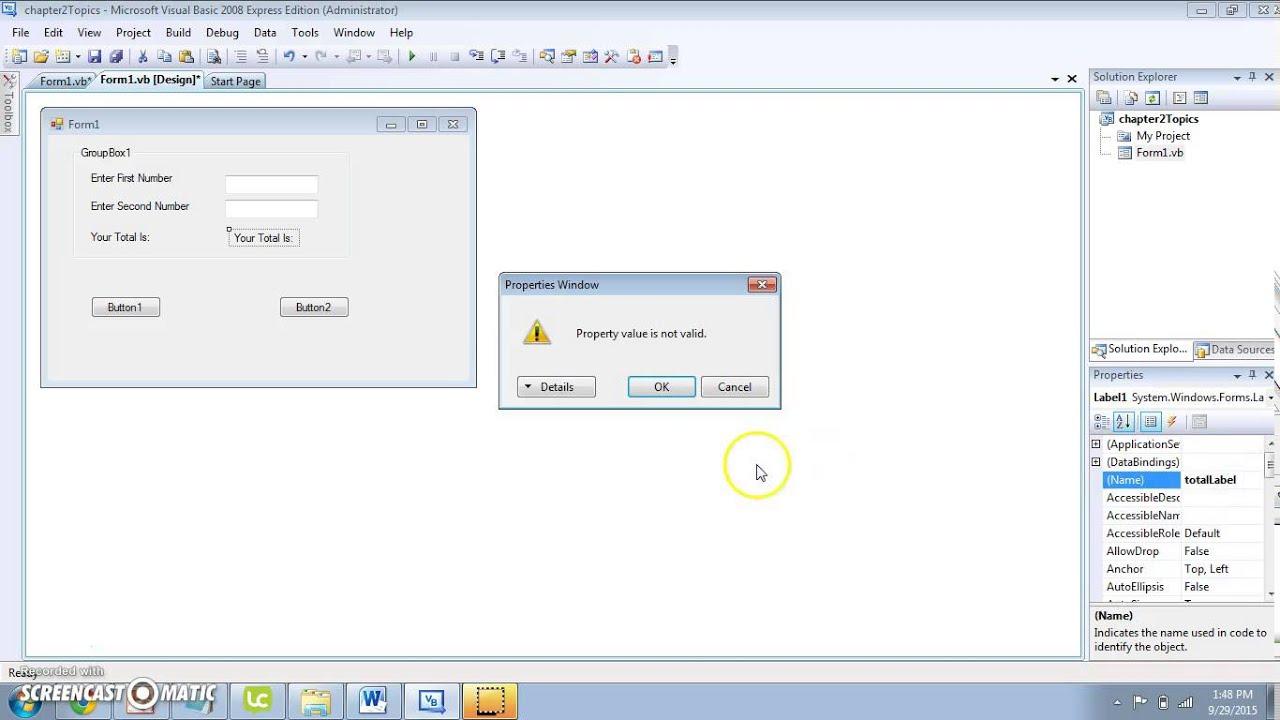 Microsoft Visual Basic 2008 Express Edition Tutorial Pdf