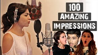 1 GIRL 100 POP SONGS IMPRESSIONS (ARIANA GRANDE, SELENA GOMEZ, ZAYN & A LOT MORE)