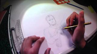 How to draw  and ink Michael from GTA 5-speed drawing tutorial