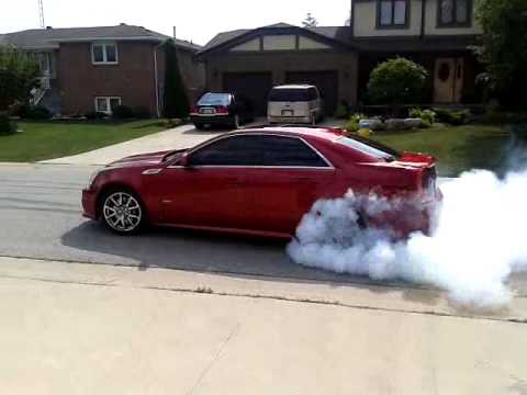 2009 Cadillac Hennessy CTS-V 700 HP Insane Burnout - YouTube
