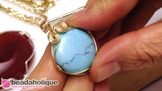 How to Make a Caged Wire Wrapped Cabochon
