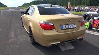 bmw m5 v10 e60 w supersprint exhaust revs accelerations