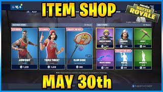 JUMPSHOT and TRIPLE THREAT Skins Are BACK! | FORTNITE ITEM SHOP TODAY! (May 30th, 2019)