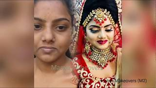 Flawless bridal makeup for patchy skin by Manya Makeovers