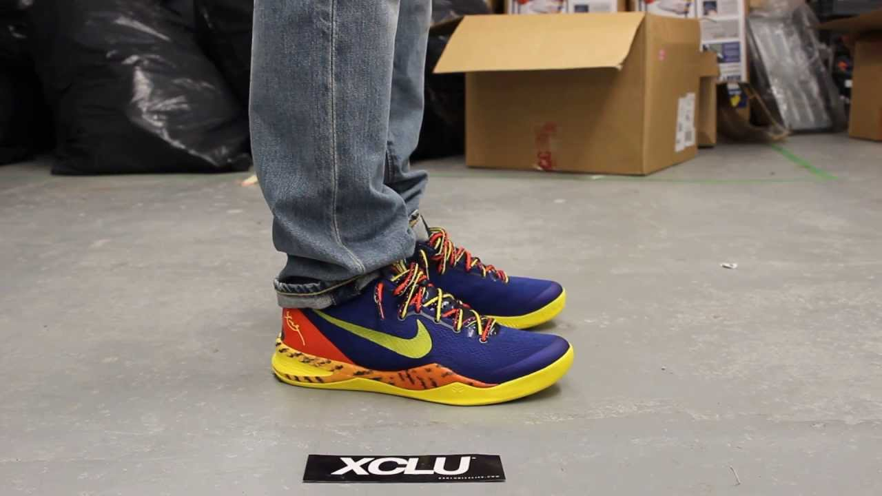 huge selection of 60457 f6e26 Kobe 8 System - Deep Royal Blue - Tour Yellow - Midnight Navy On-feet Video  at Exclucity - YouTube
