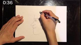 """I draw a picture in 1 minute. Today's theme is """"Hiroyuki Miyasako""""...."""