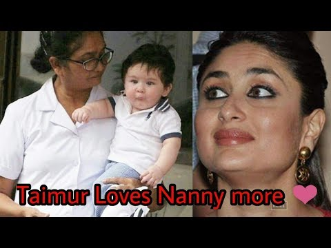 Taimur Ali Khan loves his Nanny more than Kareena Kapoor and Saif Ali Khan ! OMG