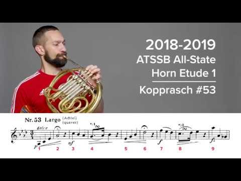 2018-2019 ATSSB All-State French Horn Etude 1 - Kopprasch 53