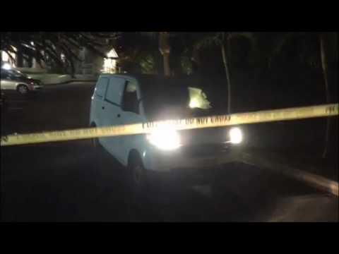 Police Van Leaving Brown Darrell Clinic, Feb 11 2017