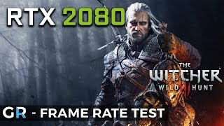 RTX 2080 WITCHER 3 PC | 1080p/1440p/2160p/Max Settings | Frame Rate Benchmark Test