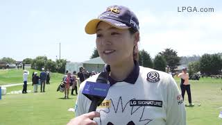 In Gee Chun discusses her goals for the weekend after round 2 at the 2019 LPGA MEDIHEAL Championship