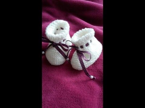 Stricken.  Baby Schuhchen, Puschen  selber stricken#3