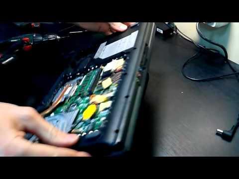 Разборка ноутбука MSI MS163B замена матрицы
