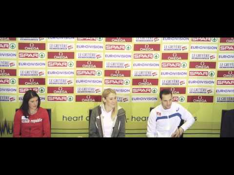 Praha 2015 European Indoor Athletics Championships - Press conference in Old Town Hall, Prague