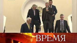 Владимир Путин встретился с представителями немецких компаний-гигантов.