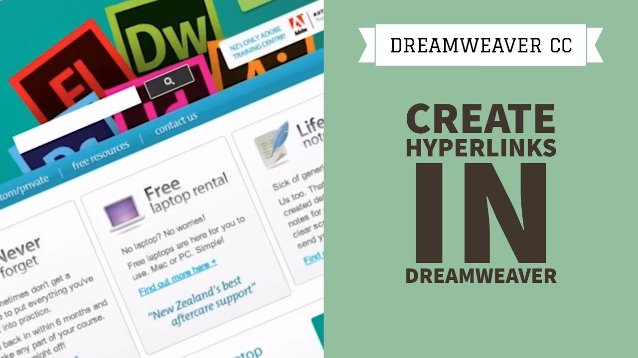 How to create Hyperlinks in Dreamweaver CC [6/34]