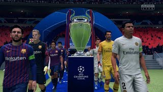 FIFA 19 | FC Barcelona vs PSG - Full UEFA Champions League Final Gameplay (Xbox One X)
