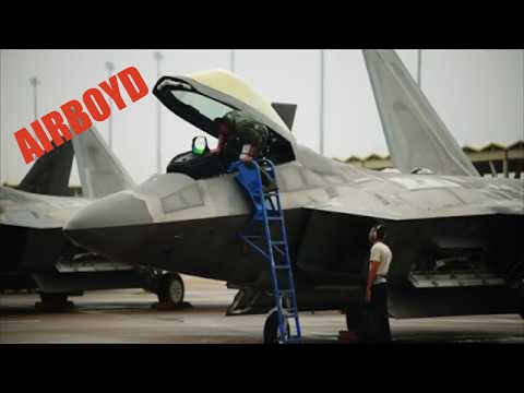 F-22 Raptors At Tyndall AFB