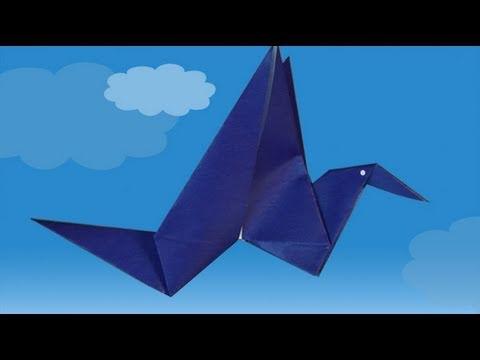 L 39 oiseau qui bat des ailes comment faire origami youtube - Comment faire des origamie ...