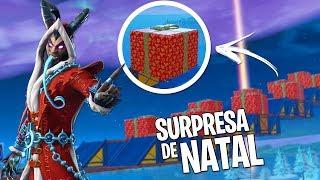 QUASE ESTRAGUEI O NATAL NA CORRIDA DOS PRESENTES SURPRESA ! - Fortnite Battle Royale