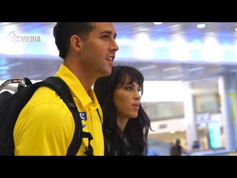 Angelo Caloiaro landing in Israel