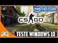 CS:GO Gameplay Intel HD Graphics 5500 Notebook I5 5200U Teste no Windows 10 #282