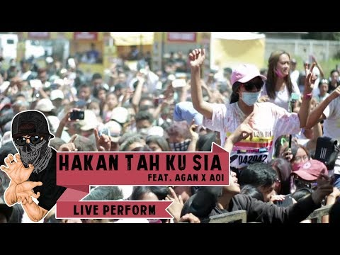 Asep Balon Feat. Agan Paralon & Aoi - Hakan Tah Ku Sia (Live At Colourrun Soljer 2017)